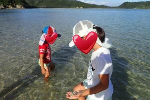沖縄,離島,座間味,家族旅行,子連れ、夕暮れ