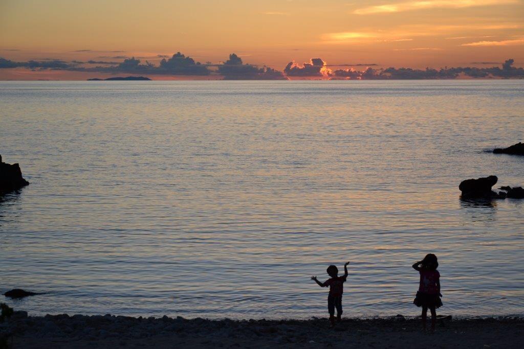 沖縄,離島,座間味,夕日,家族旅行