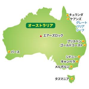 オーストラリア,オーストラリア地図